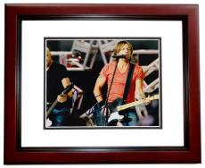 Keith Urban Signed - Autographed Concert 8x10 Photo MAHOGANY CUSTOM FRAME