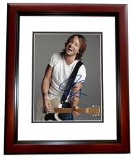 Keith Urban Signed - Autographed Country Singer 8x10 Photo - American Idol Judge - MAHOGANY CUSTOM FRAME