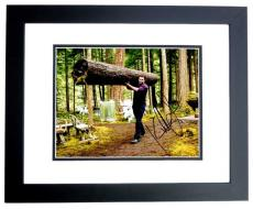 Kellan Lutz Signed - Autographed Twilight Emmett Cullen 8x10 inch Photo BLACK CUSTOM FRAME - Guaranteed to pass PSA or JSA
