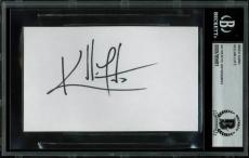 Kellan Lutz Twilight Signed 3x5 Index Card Autographed BAS Slabbed