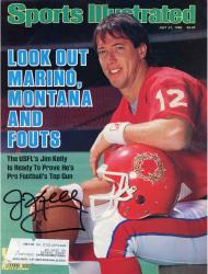 Jim Kelly Buffalo Bills Autographed USFL Sports Illustrated Magazine - Mounted Memories