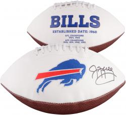 Jim Kelly Buffalo Bills Autographed White Panel Football - Mounted Memories