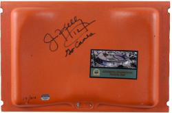 "Jim Kelly Autographed Hurricanes Orange Bowl Seat with ""Go Canes"" Inscription"