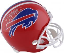 Jim Kelly Signed Bills Riddell Deluxe Full-Size Replica Helmet w/HOF'02