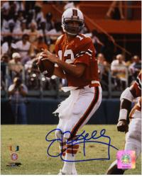 "Jim Kelly Miami Hurricanes Autographed 8"" x 10"" Photograph"