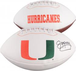 Jim Kelly Miami Hurricanes Autographed White Panel Football - Mounted Memories
