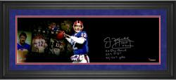 "Jim Kelly Buffalo Bills Framed Autographed 10"" x 30"" Film Strip Photograph with Multiple Inscriptions-#1 of a Limited Edition of 24"