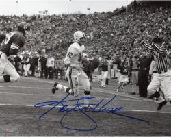 "Ken Stabler Alabama Crimson Tide Autographed 8"" x 10"" Black & White End Zone Scramble Photograph"