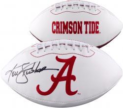 Ken Stabler Alabama Crimson Tide Autographed White Panel Football