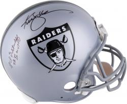 Ken Stabler and Fred Biletnikoff Oakland Raiders Autographed Throwback Riddell Pro-Line Authentic Helmet with SB XI MVP Inscription