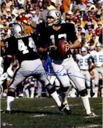 "Ken Stabler Oakland Raiders Autographed 16"" x 20"" Dropback Pass Photograph"
