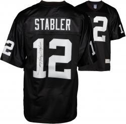 Ken Stabler Oakland Raiders Autographed Pro-Line Black Jersey