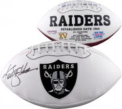 Ken Stabler Oakland Raiders Autographed White Panel Football