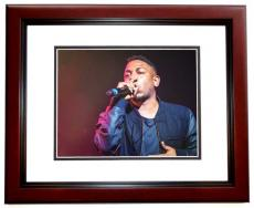 Kendrick Lamar Signed - Autographed Rapper 11x14 inch Photo MAHOGANY CUSTOM FRAME - Guaranteed to pass PSA or JSA