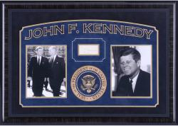 KENNEDY, JOHN F. FRAMED AUTO BOOK PAGE - Mounted Memories