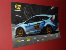 KENNETH ERIKSSON Autographed NEW! 11X17 Rally CAR RACING Drift Poster COA