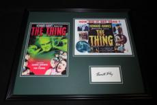 Kenneth Tobey Signed Framed 16x20 Photo Set The Thing