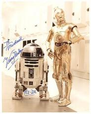 KENNY BAKER HAND SIGNED 8x10 COLOR PHOTO+COA      R2-D2 STAR WARS     TO MICHAEL