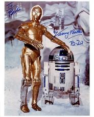 KENNY BAKER HAND SIGNED 8x10 COLOR PHOTO+COA      STAR WARS R2-D2     TO BOB