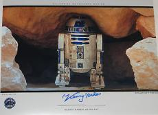 KENNY BAKER R2 D2 Signed STAR WARS Large 11x14 Theatre Wide Movie PHOTO
