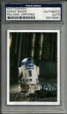 Kenny Baker R2-D2 STAR WARS Signed 2x3 Photo Card PSA/DNA Slabbed COA