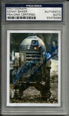 Kenny Baker R2-D2 STAR WARS Signed 2x3 Photo Card PSA/DNA Slabbed COA