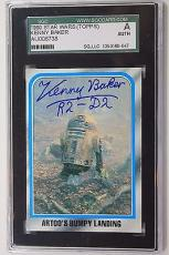Kenny Baker Signed Autograph 1980 Topps Star Wars R2-D2 Card #174 SGC AUTH SLAB