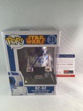 Kenny Baker Signed Star Wars R2-d2 Funko Pop Figure Psa Dna