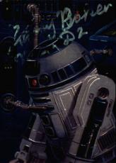 Kenny Baker Star Wars R2-d2 Signed Trading Card Topps Finest #83 Id #32173