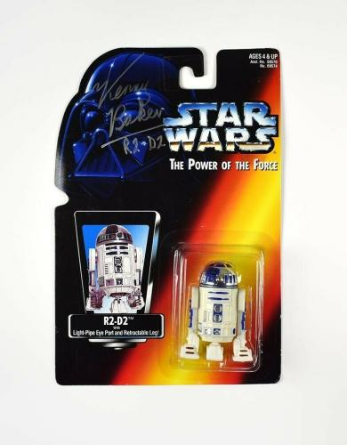 Kenny Baker Star Wars R2D2 Autographed Signed Action Figure Authentic JSA COA