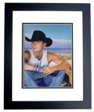 Kenny Chesney Autographed 8x10 Photo BLACK CUSTOM FRAME