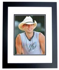 Kenny Chesney Autographed Concert 8x10 Photo BLACK CUSTOM FRAME