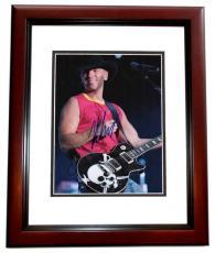 Kenny Chesney Autographed Concert 8x10 Photo MAHOGANY CUSTOM FRAME