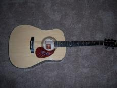 Kenny Chesney Famous Musician Lbsports/coa Signed Rogue Ra-090 Acoustic Guitar