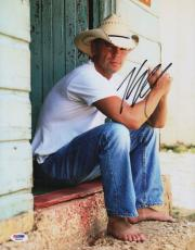 Kenny Chesney Signed 11x14 Photo Psa Coa X68083