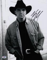 Kenny Chesney Signed 11x14 Photo Psa Coa X68084