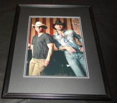 Kenny Chesney & Tim McGraw Dual Signed Framed 11x14 Photo Poster