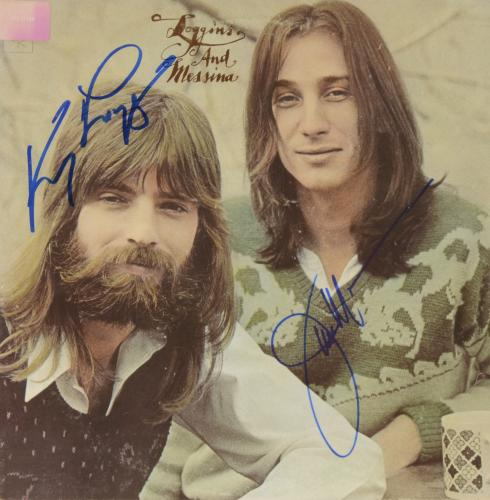 Kenny Loggins & Jim Messina Autographed Loggins & Muessina Album Cover - PSA/DNA COA