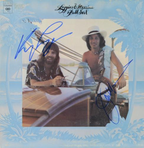 Kenny Loggins & Jim Messina Autographed Loggins & Muessina Full Sail Album Cover - PSA/DNA COA