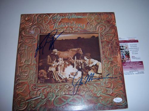 Kenny Loggins & Jim Messina Native Sons Jsa/coa Signed Lp Record Album