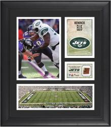 """Kenrick Ellis New York Jets Framed 15"""" x 17"""" Collage with Game-Used Football"""