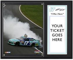 "Matt Kenseth 2012 Hollywood Casino 400 Sublimated 12x15 ""I WAS THERE"" Photo Plaque - Mounted Memories"