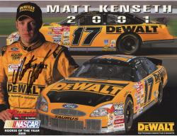 KENSETH, MATT AUTO (DEWALT/ROOKIE OF THE YEAR) 8X10 PHOTO - Mounted Memories