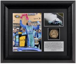 "2012 Hollywood Casino 400 Matt Kenseth Framed 6"" x 5"" Photo w/ Plate & Gold Coin - Limited Edition - Mounted Memories"