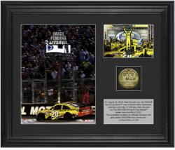 Matt Kenseth 2013 Irwin Tools Night Race Winner Framed 2-Photograph Collage with Gold-Plated Coin - Mounted Memories