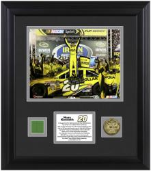 Matt Kenseth 2013 Irwin Tools Night Race Framed 8'' x 10'' Photograph with Coin & Race-Used Flag - Mounted Memories