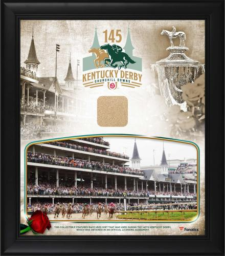 "Kentucky Derby 145 Framed 15"" x 17"" Event Collage with Race-Used Dirt from the 145th Kentucky Derby"