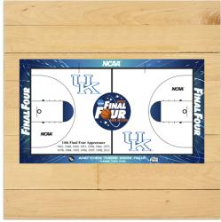 Kentucky Wildcats 2011 Men's Final Four 6'' x 6'' Game Used Court Piece with Floor logo - Mounted Memories
