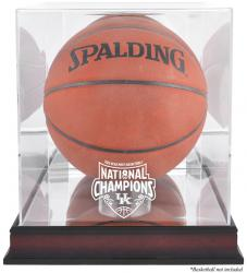 Kentucky Wildcats 2012 NCAA Men's Basketball National Champions Basketball Mahogany Logo Display Case with Mirror Back - Mounted Memories