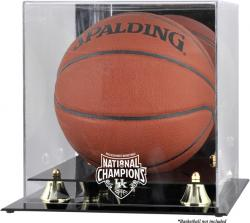 Kentucky Wildcats 2012 NCAA Basketball National Champions Golden Classic Logo Basketball Display Case with Mirror Back - Mounted Memories